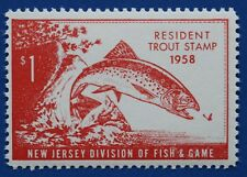 US NJT11 1958 New Jersey Trout Stamp MNH