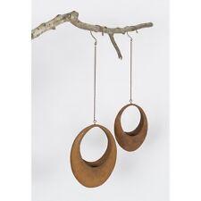 Metal Rusty Oval Hanging Pot Planter