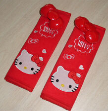 Hello Kitty red Plush Seat Belt Cover Pair for Auto Car