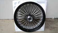 16 X 3.5 FAT SPOKE REAR  BK HUB, RIM, BLK SPOKES HARLEY TOURING FLH/FLT 00-2007