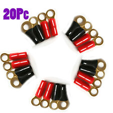 10pair Car Audio Power Gound Wire Battery Ring Terminals RV6-8 Gauge Connector