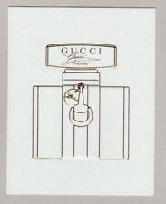 Carte  à parfumer    - perfume card  - Gucci by Gucci