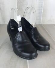 Dansko Beth Black Leather Floral Stitched Pumps Heels Womens Size 5.5 /EU36