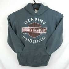 Harley Davidson Gray Hoodie Size Small Two Sided Print Jacksonville NC HD