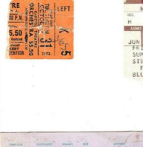 Frank Zappa Tim Buckley Concert Ticket Stub 10-31-72 Capitol Theatre Late Show