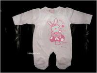 Baby boy girl unisex velour sleepsuit all in one romper kitty lion NB 0-3-6-9 M