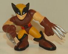 "2008 Brown Yellow Wolverine Thomas Logan 2"" Marvel X-Men Hasbro Super Hero Squad"