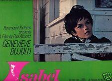 Lobby Card 1968 ISABEL Genevieve Bujold great CU
