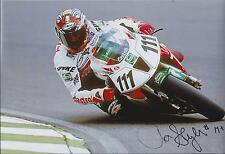 Aaron SLIGHT SIGNED CASTROL HONDA 12x8 Photo AFTAL COA Autograph Goodwood GP
