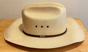 Resistol George Strait Straw Self-Conforming Cowboy Hat 7 1/4 Western Texan