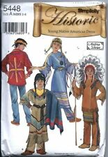 Simplicity Pattern 5448 Child Costume 3-8 Native American Clothes Theater