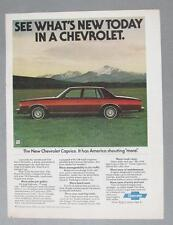 Original 1977 Chevrolet Caprice 4 Door Ad SEE WHATS ....TODAY IN A CHEVROLET