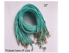 """Wholesale velvet Strings With Connector For Necklace 20""""inches 10PCS Light blue"""