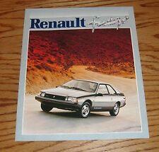 Original 1981 Renault Fuego Sales Brochure 81