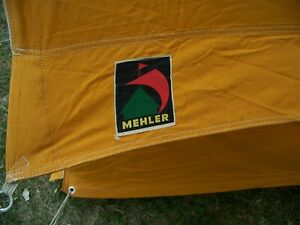 Vintage 4-piece Mehler Canvas Wall Tent + Rain Fly + Additional Canopy / Room
