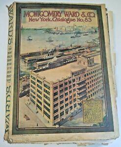Vintage Montgomery Ward Catalog No. 83 1914 New York  WWI