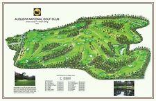 AUGUSTA NATIONAL 1932-Mackenzie/Jones - a vintage golf course map