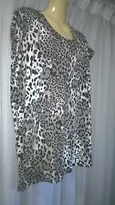 Womans Rockmans Top, M, Animal Print, Sleeveless, Poly / Elastane