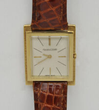 Jaeger le Coultre vintage rectangular 18k solid gold 1955/60 mint perfect