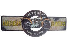 """Blechschild """"American Classic"""" Auto Werkstatt Reparatur Harley Diner 19x45cm neu"""