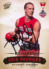 ✺Signed✺ 2012 SYDNEY SWANS AFL Premiers Card TED RICHARDS