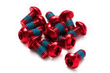 Reverse Bremsscheiben Befestigungs- Schrauben-Set 12 Stück M5x10mm rot
