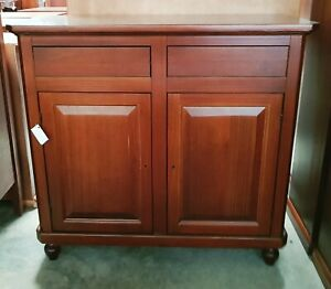Cupboard With 2 Doors And 2 Drawers, Walnut Dark (511)