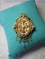 Museum Quality Locket Rose Cut Diamond Necklace 14K Gold Victorian Belle Epoque