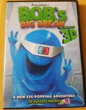 Bob's Big Break in Monster 3D (2011, DVD) No Glaases FREE SHIPPING!