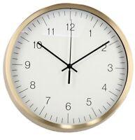 25cm Round Gold Wall Clock Modern Design