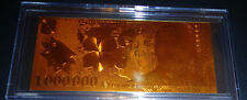 24 KT *GOLD ROMANIA 1.000.000 LEI* BANKNOTE BILL_COMES IN ACRYLIC SLAB HOLDER
