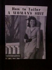 1954 How To Tailor A Woman's Suit, Dept of Ag Home & Garden Bulletin No 20