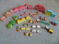 Farm Blocks & Animals - Vintage Wooden Play Set