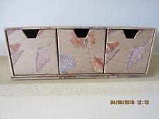 Tres cajones de almacenamiento decorativo/cajas de la baratija-costa patrón