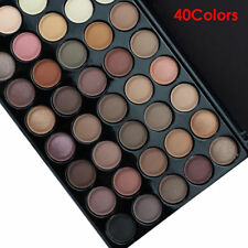 Cosmetic Matte Eyeshadow Cream Makeup Palette Shimmer Set 40 Color+ Brush Set A