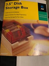 "Vintage AT&T 3.5""  Disk  Storage"