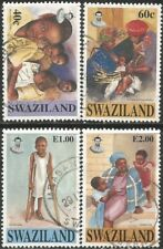 SWAZILAND 1996 UNICEF 50th ANNIVERSARY Sc#664-7 COMPLETE USED SET 2849