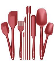 New listing 10 Pc Silicone Spoon Utensil Spatula Set Non stick Heat Resistant Baking Kitchen