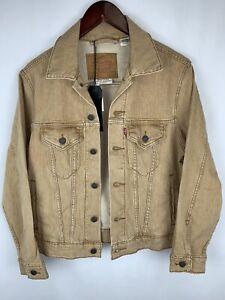 Mens Levis Vintage Fit size XS  Denim Jacket  brown NWT MSRP $98