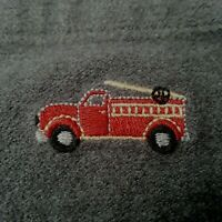Janie and Jack One Piece Snap Romper Overall 6-12 mo Gray Embroidered Fire Truck