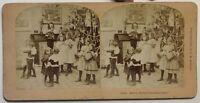 Joyeux Natale Bambini Fête Foto Stereo P49p2n47 Vintage Albumina 1897