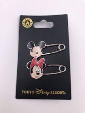 Tokyo Disneyland Resort Japan: Mickey and Minnie Saftey Pin Set (Dp-11)