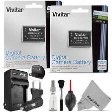 2 pcs. Vivitar EN-EL19 Battery + Charger for Nikon Coolpix S33 S2900 S3700 S7000