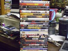 (24) Sports Theme DVD Lot: 42 Invincible Game Plan (2) Rocky Ali Space Jam  MORE