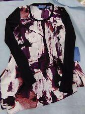 Womens Sz XS Vera Wang Lightweight Long Sleeve Cute Shirt!  NEW ~ MSRP $50.00
