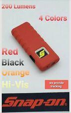Snap On 200/80 Lm flood/flashlight & Laser beam Shop work 3 AAA Light 4 colors !