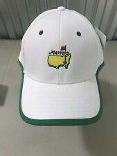 Masters (White/Green) Performance Structured Golf Hat Augusta National 2018 New