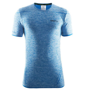 Funktionsshirt CRAFT Active Comfort, Herren, kurze Ärmel, Kompression, blau