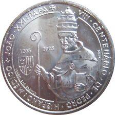 Portugal km 762 5 euro Papa Juan XXI 2005 en STG 571006