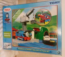 Thomas And Cranky Deluxe Action Train Set By Tomy - Preloved - Good Condition
